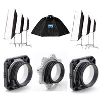 Image of Chimera OctaPlus 3, Fixed 3 Foot Diameter Lightbank - Bundle With 2x Chimera Speed Ring for Profoto Flashes, Chimera OctaPlus Speed Ring for Profoto Flashes, 2x Chimera Small PRO II STRIP Lightbanks, White
