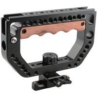Image of CAMVATE D-Shape Top Handle with Wood Grip for Blackmagic URSA Mini