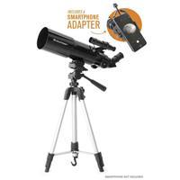 Celestron Travel Scope 80, Portable 80mm Refractor Telescope with Smartphone Adapter