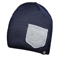 Image of Cooph Beanie WINTER Headwear Lens Cap Pouch, One Size, Navy/Heather Gray
