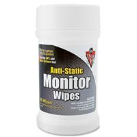 Image of Falcon Pre-moistened Canister of Anti-Static Monitor Wipes - 80 Wipes