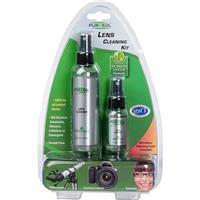 """Image of Purosol Multi Purpose Optical Lens Cleaning Combo Kit with 4.0 Oz/1.0 Oz. Pump Spray Lens Cleaner Bottles & 12x16""""/6x6"""" Microfiber Cleaning Cloths"""