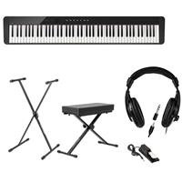 Image of Casio Privia PX-S1000 88-Key Digital Piano (Black), Bundle with Bench, Stand, Sustain Pedal and Headphones