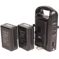 Image of Came-TV CM-2KS V-Mount Battery Charger with Two 95W Batteries