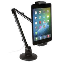 """CTA Digital Ultra-Light Arm Mount with Clamp and Suction Bases for 4.5-7.75"""" Tablets/Smartphones and 7-10"""" Tablets"""