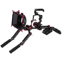 Image of Came-TV Protective Cage Plus for GH5 Camera Rig with Matte Box, Follow Focus, Handgrip and Shoulder Pad
