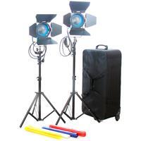 Came-TV Fresnel Tungsten Video Spot Film Lights, 2x 650W