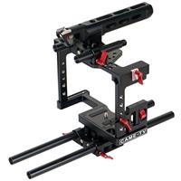 Image of Came-TV ZBTL01 DSLR Cage Rig Kit for Panasonic GH4/Sony a7S/5D Mark III Digital Camera, Includes Top Handle, DSLR Cage, Dovetail plate