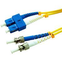 Image of Comprehensive 16.4' SC to ST SM 9/125 Micron Duplex Single Mode Fiber Optic Patch Cable