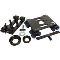 """Image of DanaDolly Universal 150mm Kit, Includes 2x Universal Track Ends, Center Support, 1-100mm Ball Adapter, 1-150mm Ball Adapter, 3"""" Washer and T-Tool"""