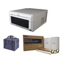 "DNP DS820A 8"" Professional Dye-Sublimation Printer for 8x10"" and 8x12"" Photos - Bundle With DNP Pure Premium Media for DS820A Printer, 8x10"", 2x 130 Print Rolls, Printer Carrying Case"