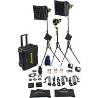 Image of Dedolight LED hard case lighting kit with 3 x DLED7 bicolor LED light heads, ballasts, soft boxes, DP1.1 and accessories