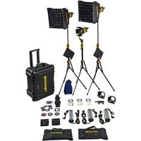 Image of Dedolight LED hard case lighting kit with 3 x DLED7 daylight LED light heads, ballasts, soft boxes, DP1.1 and accessories