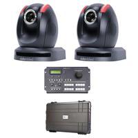 Image of Datavideo Dual PTC-150 HD Pan Tilt Zoom Camera Kit with RMC-180 PTZ Camera Controller