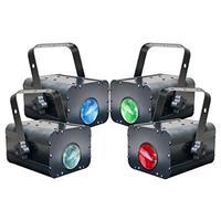 Image of Eliminator Electro 4 Pak II Multicolor Four Unit Stand Alone Moonflower DJ Lighting System