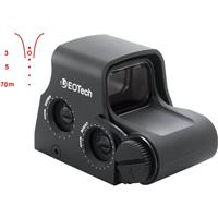 Image of EOTech XPS2 1x Holographic Weapon Sight with FN Less-Lethal Reticle Pattern, Unlimited Eye Relief, 0.5 MOA Adjustment, Waterproof/Fogproof