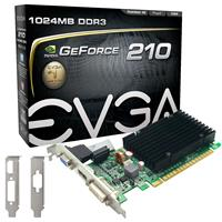 Image of EVGA GeForce 210 1024MB Passive Graphics Card, DDR3, PCI Express 2.0x16, 240Hz Refresh Rate, HS Cooling