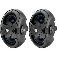 """Image of Electro-Voice EVID-3.2T 2-Way 150-Watt Installation Speaker with Dual 3.5"""" Woofers and .75"""" Titanium Tweeter and 70V/100V Transformer, Black, Pair"""
