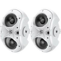 """Image of Electro-Voice EVID-3.2T 2-Way 150-Watt Installation Speaker with Dual 3.5"""" Woofers and .75"""" Titanium Tweeter and 70V/100V Transformer, Pair, White"""
