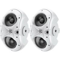 """Image of Electro-Voice EVID-3.2 2-Way 150-Watt Installation Speaker with Dual 3.5"""" Woofers and .75"""" Titanium Tweeter, Pair, White"""