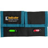 Image of ExpoImaging Rogue Indicator Battery Pouch V2, Black/Blue