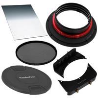 """Image of Fotodiox WonderPana 66 Essentials 0.6SE System Holder Kit for Nikon 14-24mm AF-S Zoom Nikkor f/2.8G ED AF Lens, Includes WonderPana FreeArc Core Filter Holder, WonderPana 66 6.6"""" Wide Holder Upgrade Bracket, 145mm Solid ND 1.2 (4 Stop) Filter and 6.6"""