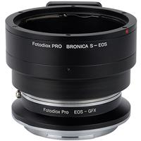 Image of Fotodiox Pro Lens Mount Double Adapter for Bronica S Mount & Canon EOS (EF / EF-S) D/SLR Lenses to Fujifilm G-Mount GFX Mirrorless Digital Cameras