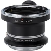 Image of Fotodiox Pro Lens Mount Double Adapter for Bronica SQ Mount & Canon EOS (EF / EF-S) D/SLR Lenses to Fujifilm G-Mount GFX Mirrorless Digital Cameras