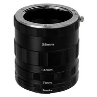 Fotodiox Macro Extension Tube Set for Canon EOS M (EF-M) Mount Mirrorless Cameras for Extreme Close-up Photography