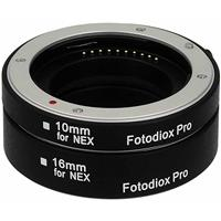 Image of Fotodiox Automatic Macro Extension Tube Kit with Auto Focus and TTL Auto Exposure for Sony E-Mount (NEX) Mirrorless Camera System