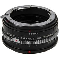 Image of Fotodiox Vizelex ND Throttle Lens Mount Adapter for Nikon Nikkor F Mount G-Type D/SLR Lens to Nikon Z-Mount Mirrorless Camera Body with Built-In Variable ND Filter (1 to 8 Stops)