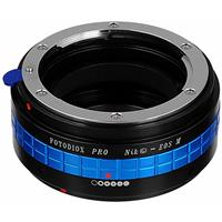 Image of Fotodiox Mount Adapter with Aperture Control Dial for Nikon G Lens to Canon EOS-M (EF-M Mount) Mirrorless Camera