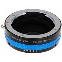 "Image of Fotodiox Mount Adapter with Lens Aperture Control Dial for Yashica 230AF (Y/AF, YAF) Mount Lenses to C-Mount (1"" Screw Mount) Cine and CCTV Camera"