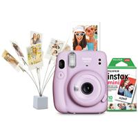 Image of Fujifilm INSTAX Mini 11 Instant Camera Holiday Bundle, Lilac Purple