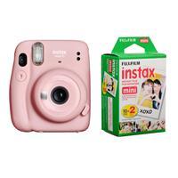 Image of Fujifilm Fujifilm Instax Mini 11 Instant Film Camera, Blush Pink - with Fujifilm instax Mini Instant Daylight Film Twin Pack, 20 Exposures