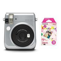 Image of Fujifilm Michael Kors Instax Mini 70 Instant Film Camera, Silver - With Fujifilm instax mini Candy Pop Film 10 Sheets