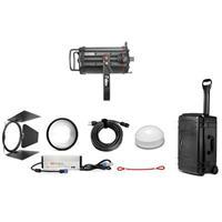 "Image of Fiilex K154 Lighting Kit, Includes Q1000-DC Light Head, Size III Barndoor, 5"" Fresnel Lens, AC/DC Power Adapter, Custom Q1000 Rolling Travel Case"