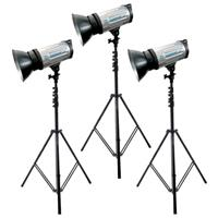 Flashpoint II 1800 Monolight Kit, 3 1200A Lights with Stands Product picture - 613