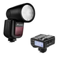 Image of Flashpoint Zoom Li-on X R2 TTL On-Camera Round Flash Speedlight For Nikon (Godox V1) + Flashpoint R2 Mark II ETTL 2.4 GHz Wireless Flash Trigger for Nikon (Godox X2)