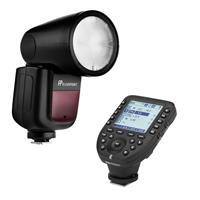 Image of Flashpoint Zoom Li-on X R2 TTL On-Camera Round Flash Speedlight For Nikon (Godox V1) + Flashpoint R2 Pro Mark II 2.4 GHz Wireless Flash Trigger for Nikon