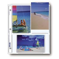 """Print File Archival Photo Pages Holds Six 4x6"""" Prints, Pack of 500 Product image - 1053"""