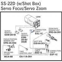 Image of Fujinon SS-22D (Servo/Servo) Digital Zoom/Focus Rear Control Kit with Shotbox for HDTV/Broadcast Lenses
