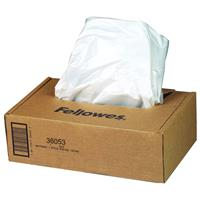 Fellowes Pack of 100 Powershred 20 Gallon Waste Bags for General Office Shredders