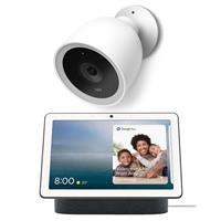 """Google Nest Hub Max with 10"""" Touchscreen and Built-In Google Assistant, Charcoal - ith Nest Cam IQ Outdoor Security Camera"""