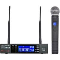 Image of Galaxy Audio DHT Wireless Dynamic Cardioid Handheld Microphone System, CODE D 584-607MHz, Includes DHTR Receiver, HH64 Handheld Transmitter, Single Rack Mount