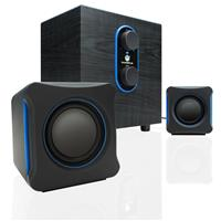 GoGroove SonaVERSE LBr USB Powered 2.1 Computer Speaker System, Includes Bass Subwoofer, Dual Stereo Satellite Speakers