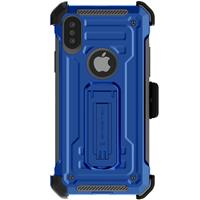 Image of Ghostek Iron Armor2 Rugged Case with Holster Belt Clip for iPhone XS, Blue/Gray