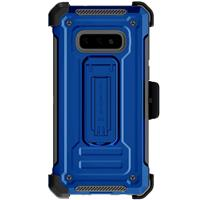 Image of Ghostek Iron Armor2 Rugged Case with Holster Belt Clip for Galaxy S10e, Blue/Gray