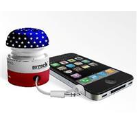 Grandmax SPKR-GR1 Go Rock America Mini Portable Speaker for iPod / Mp3 Players and Laptops, Blue/Red/White