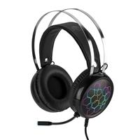 Green Extreme Super Bass USB Over-Ear Gaming Headset, 7.1 Channel Virtual Surround Sound with Noise Isolating Mic, LED Light, for PC and Mac